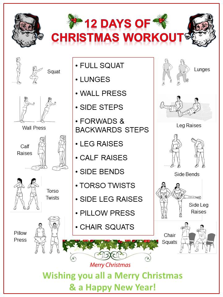 12 DAYS OF CHRISTMAS YOURhealth WORKOUT